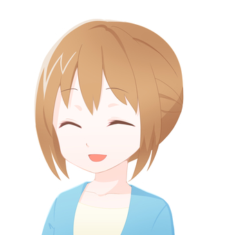 Female facial expression icon (smile 2)