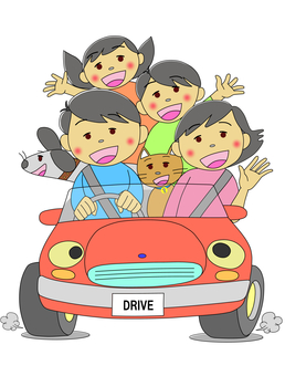 Drive with family