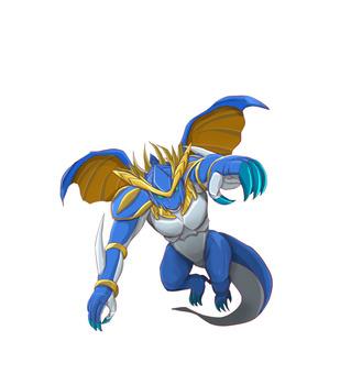 Armed dragon (blue)