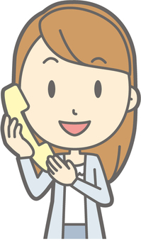 Female college student a - Telephone - Bust