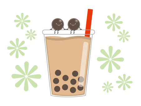 Tapioca drink with character