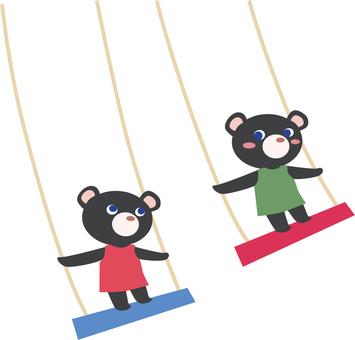 Black bear's swing