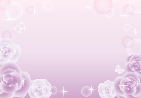 Rose sparkling frame (purple)