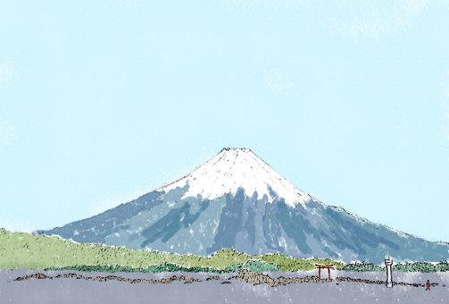 富士山と葉山