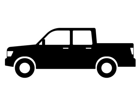 Car pickup truck silhouette