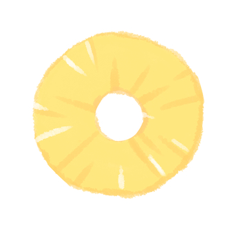 Pineapple round slice