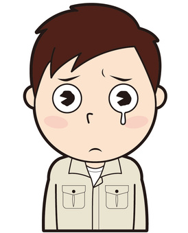 Male worker (crying)