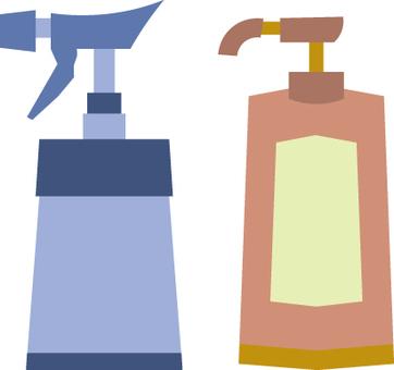 Container (mist spray, shampoo, rinse, soap)