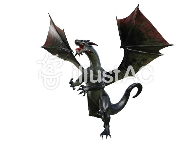 ブラック ドラゴンのイラスト