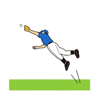 Baseball diving catch