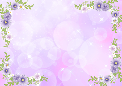Flower frame and plant _ purple