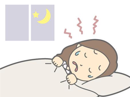 Women - napping to sleep