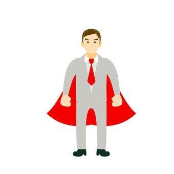 A salaryman wearing a cloak
