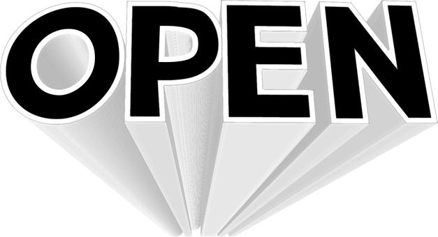 OPEN solid logo black