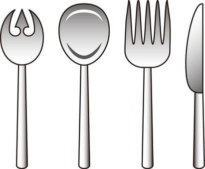 Spoon & Fork & Butter Knife