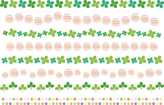 Hand drawn clover and white clover line