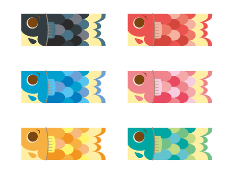 Carp streamer _ 6 color set