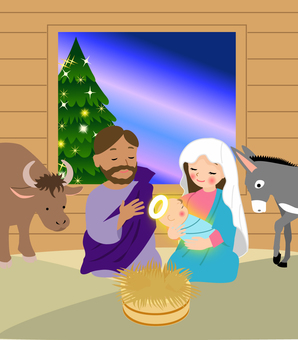 The beginning of nativity Christmas