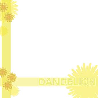 Dandelion square frame
