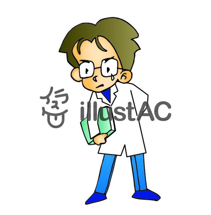 白衣の男性イラスト No 168900無料イラストならイラストac