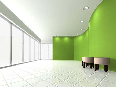 Reception space (green)