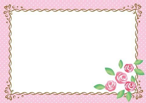 Girly material 013 Rose frame
