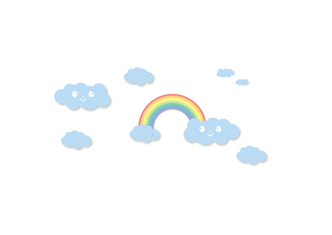Cloud rainbow pattern _ white