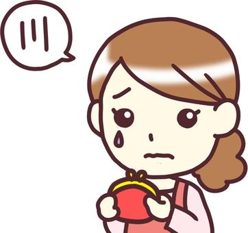 【Female apron】 diagonal _ wallet
