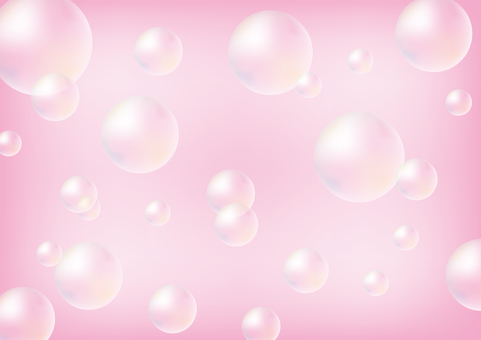 Pink and soap bubbles