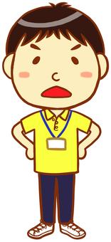 "Polo shirt male (anger) ""Yellow"""
