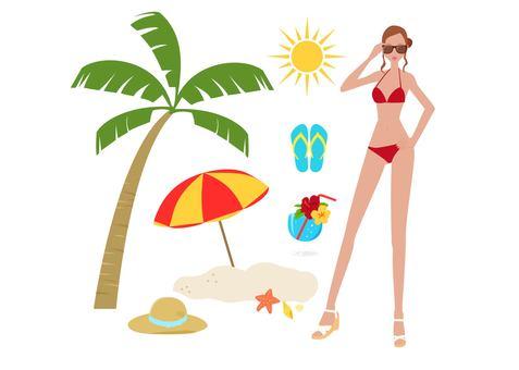 Fashionable women - vacation