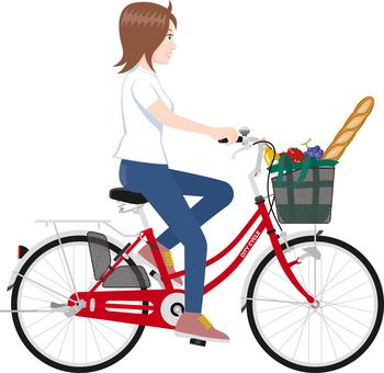 Bicycle shopping women