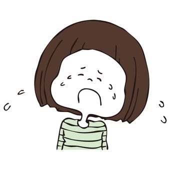 泣きわめく女の子