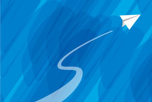 종이 비행기 푸른 하늘