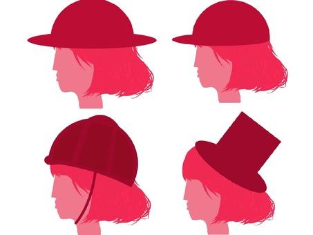 Women's silhouette set wearing a hat 3