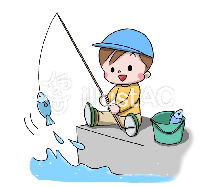 Cartoon Boy fishing Clipart   k47907961   Fotosearch