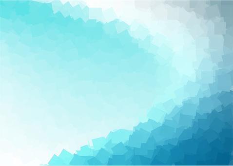 Mosaic gradation - turquoise