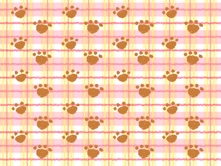Cat's footprint background (check pattern)