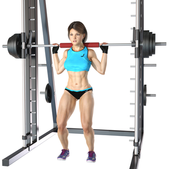 Barbell squat 03