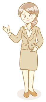 Woman in a suit