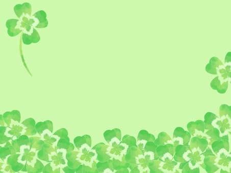 Clover background green