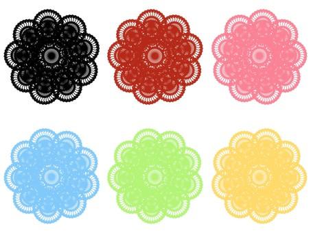 Lace 6 color set