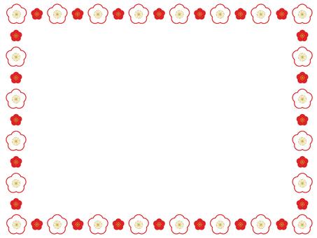 Plum flower decorative frame 17
