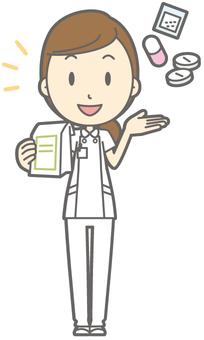 Female nurse - medicine - whole body