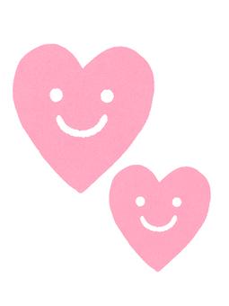 스마일 하트 두 핑크