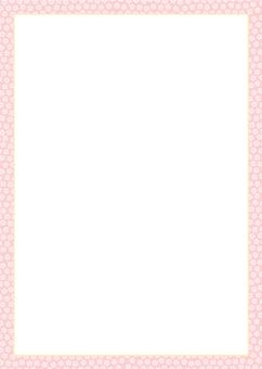 Frame of Kozakura pattern (listening color)