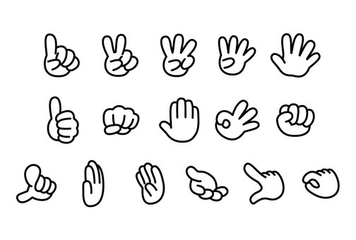 Assorted set of hands