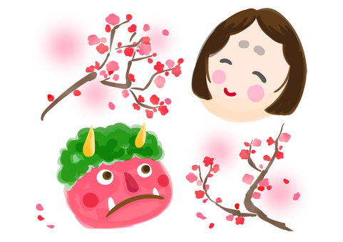 Red Demon, Mumps and Plum Blossom 01