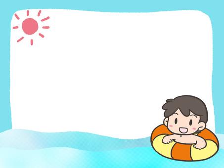 Sea bath frame