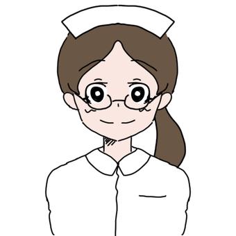 Glasses nurse woman